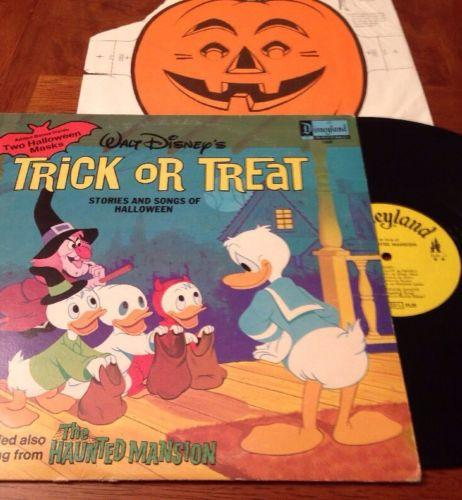 Walt Disney's Trick or Treat Halloween Album with the Haunted Mansion