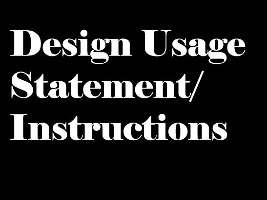 Design Usage Statement