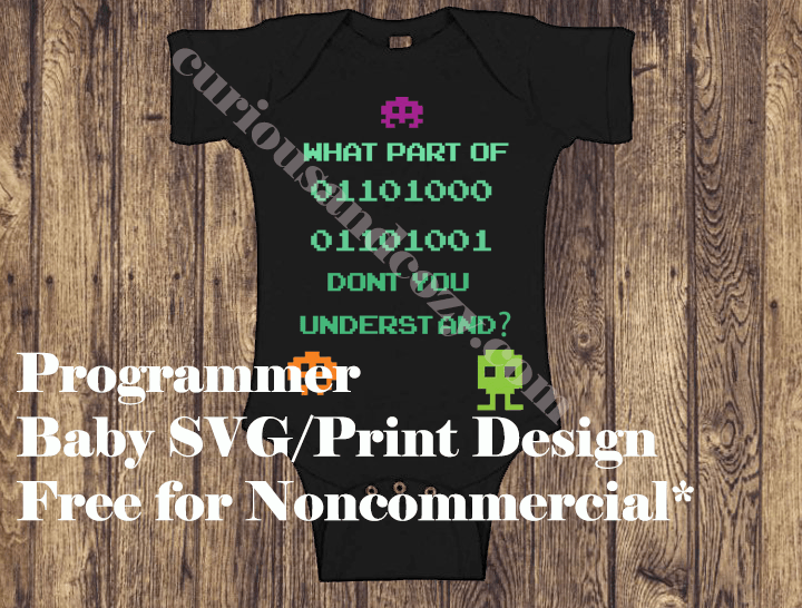 Programmer Baby Design Free SVG